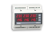 ALGODUE UPM204 DIN-rail LED Power Meter for Measurements on Three-Phase Systems